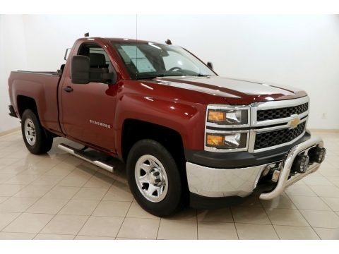 Deep Ruby Metallic 2014 Chevrolet Silverado 1500 WT Regular Cab 4x4