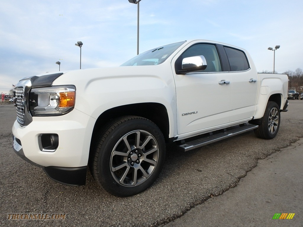 Summit White / Jet Black GMC Canyon Denali Crew Cab 4x4