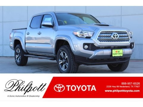 Silver Sky Metallic 2017 Toyota Tacoma TRD Sport Double Cab 4x4