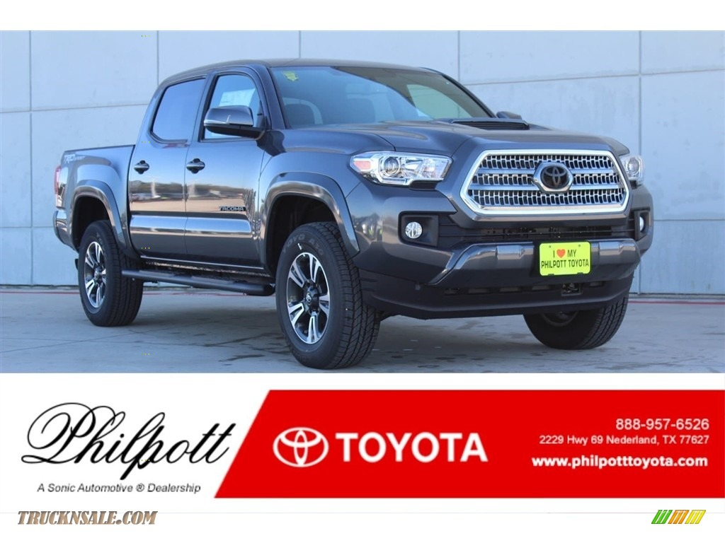 2017 Tacoma TRD Sport Double Cab - Magnetic Gray Metallic / TRD Graphite photo #1