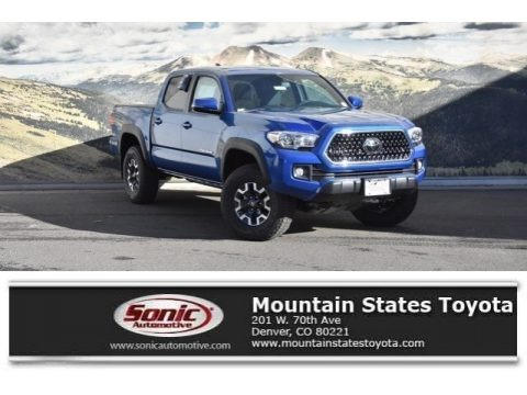 Blazing Blue Pearl 2018 Toyota Tacoma TRD Off Road Double Cab 4x4