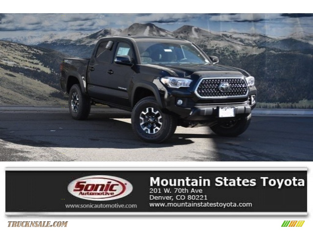 2018 Tacoma TRD Off Road Double Cab 4x4 - Midnight Black Metallic / Graphite w/Gun Metal photo #1