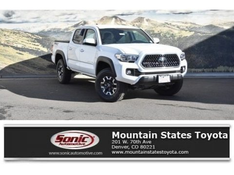 Super White 2018 Toyota Tacoma TRD Off Road Double Cab 4x4