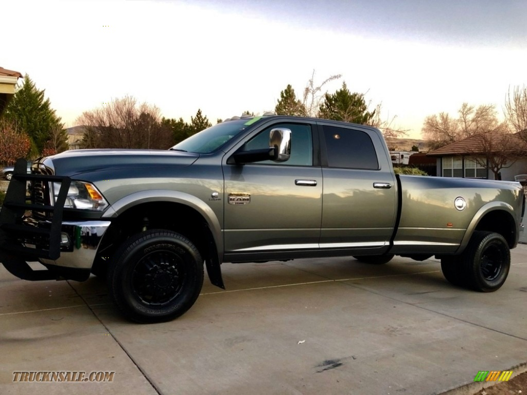 2012 Ram 3500 HD Laramie Crew Cab 4x4 Dually - Mineral Gray Pearl / Dark Slate/Russet photo #1