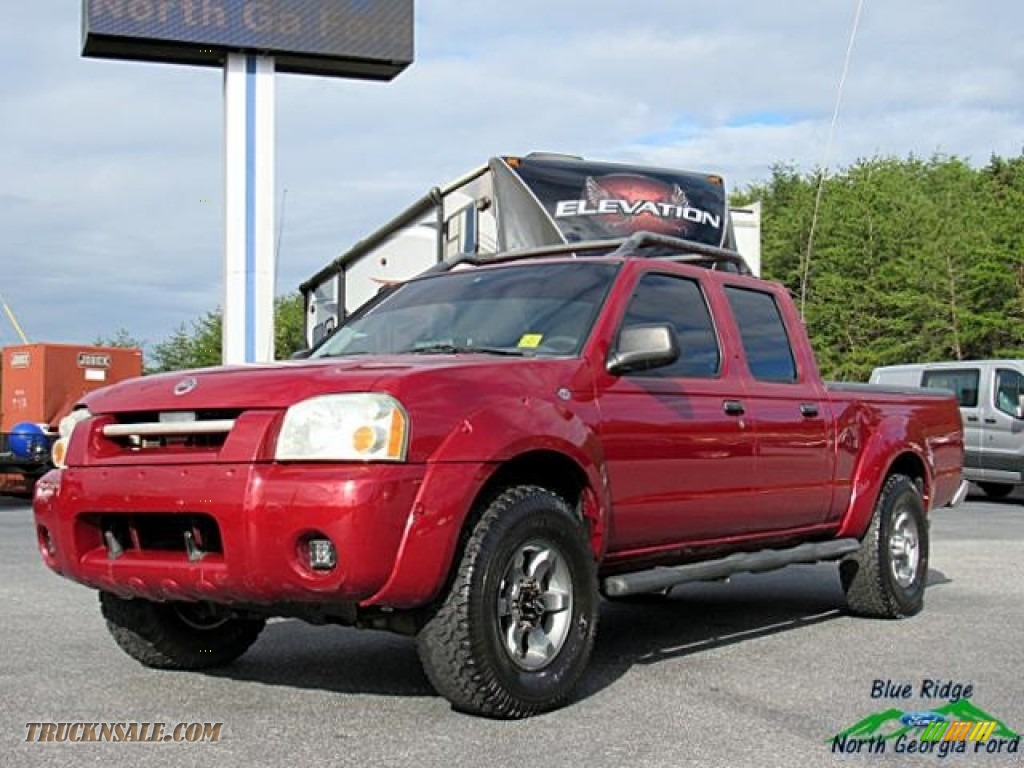Red Brawn Metallic / Gray Nissan Frontier XE V6 Crew Cab 4x4
