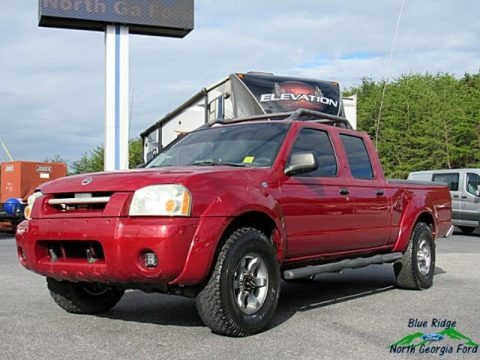 Red Brawn Metallic 2004 Nissan Frontier XE V6 Crew Cab 4x4