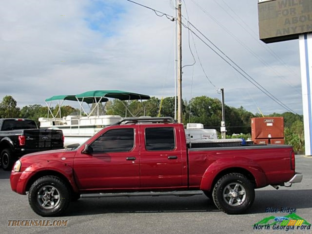 2004 Frontier XE V6 Crew Cab 4x4 - Red Brawn Metallic / Gray photo #2