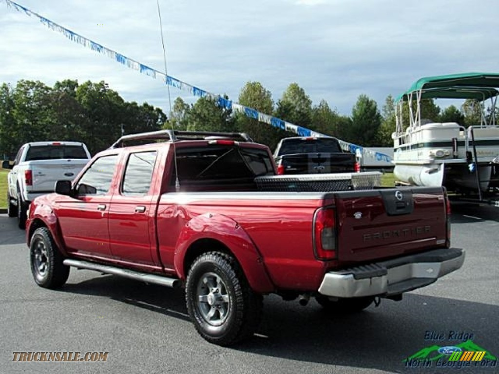 2004 Frontier XE V6 Crew Cab 4x4 - Red Brawn Metallic / Gray photo #3