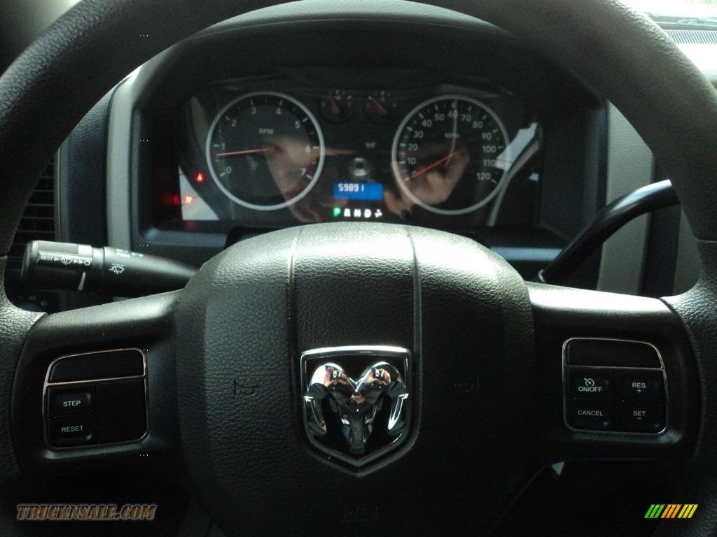2012 Ram 1500 ST Crew Cab 4x4 - Black / Dark Slate Gray/Medium Graystone photo #11