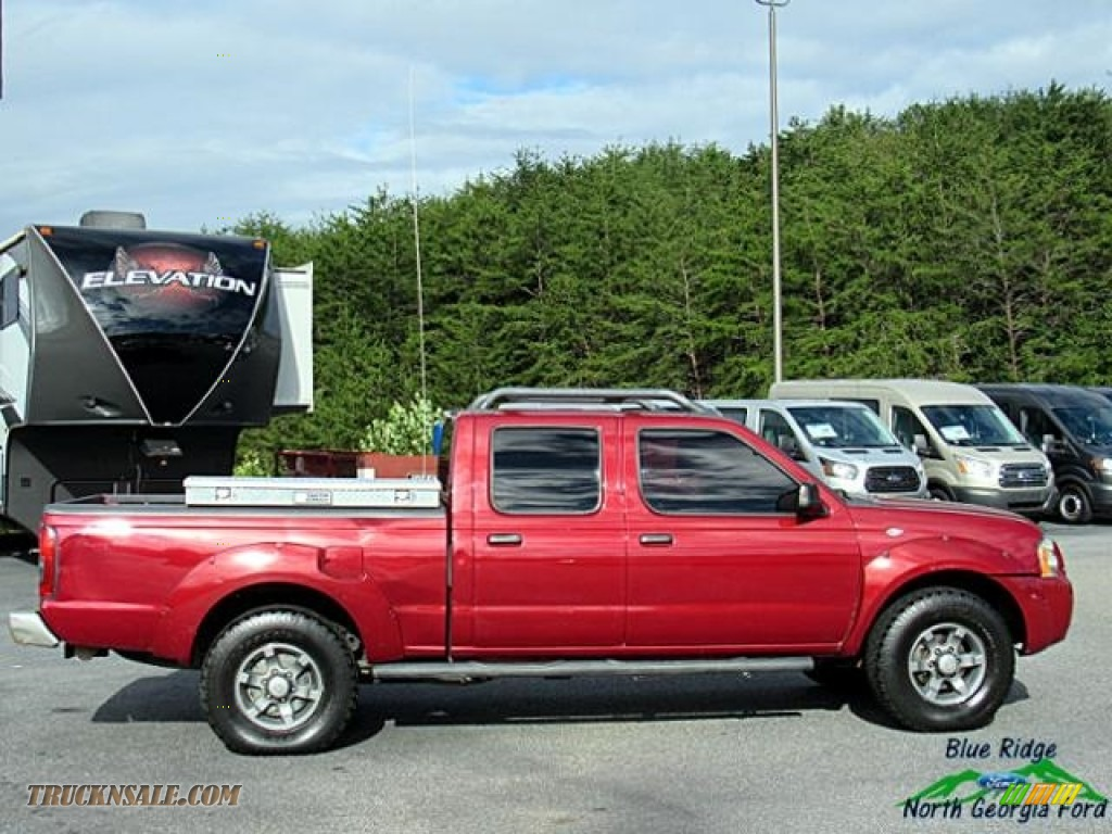 2004 Frontier XE V6 Crew Cab 4x4 - Red Brawn Metallic / Gray photo #7