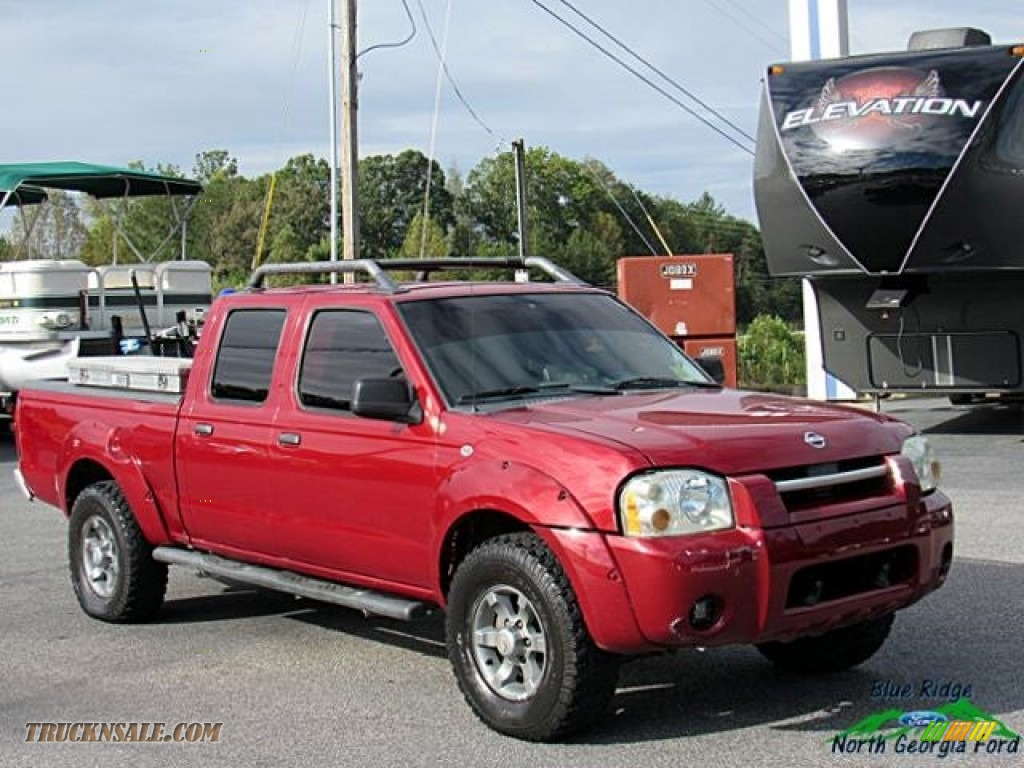 2004 Frontier XE V6 Crew Cab 4x4 - Red Brawn Metallic / Gray photo #8