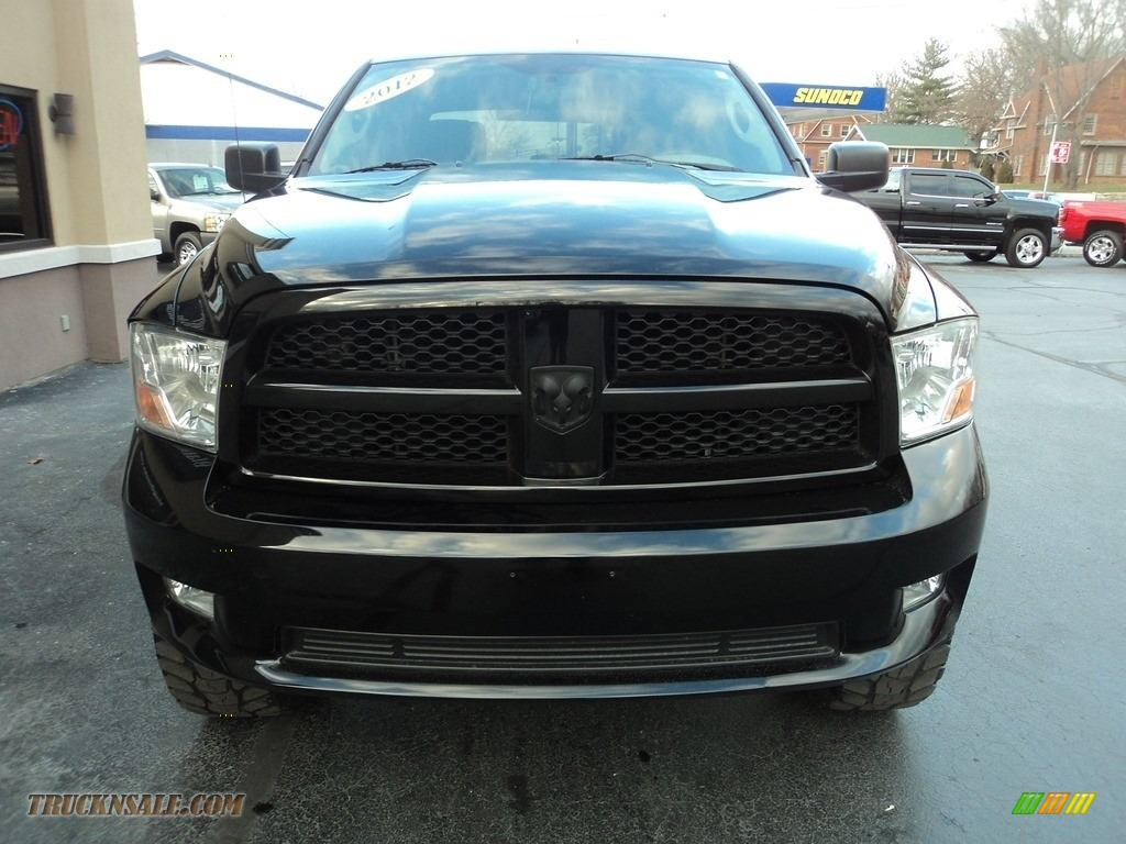 2012 Ram 1500 ST Crew Cab 4x4 - Black / Dark Slate Gray/Medium Graystone photo #20