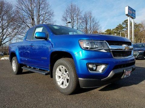 Kinetic Blue Metallic 2018 Chevrolet Colorado LT Extended Cab
