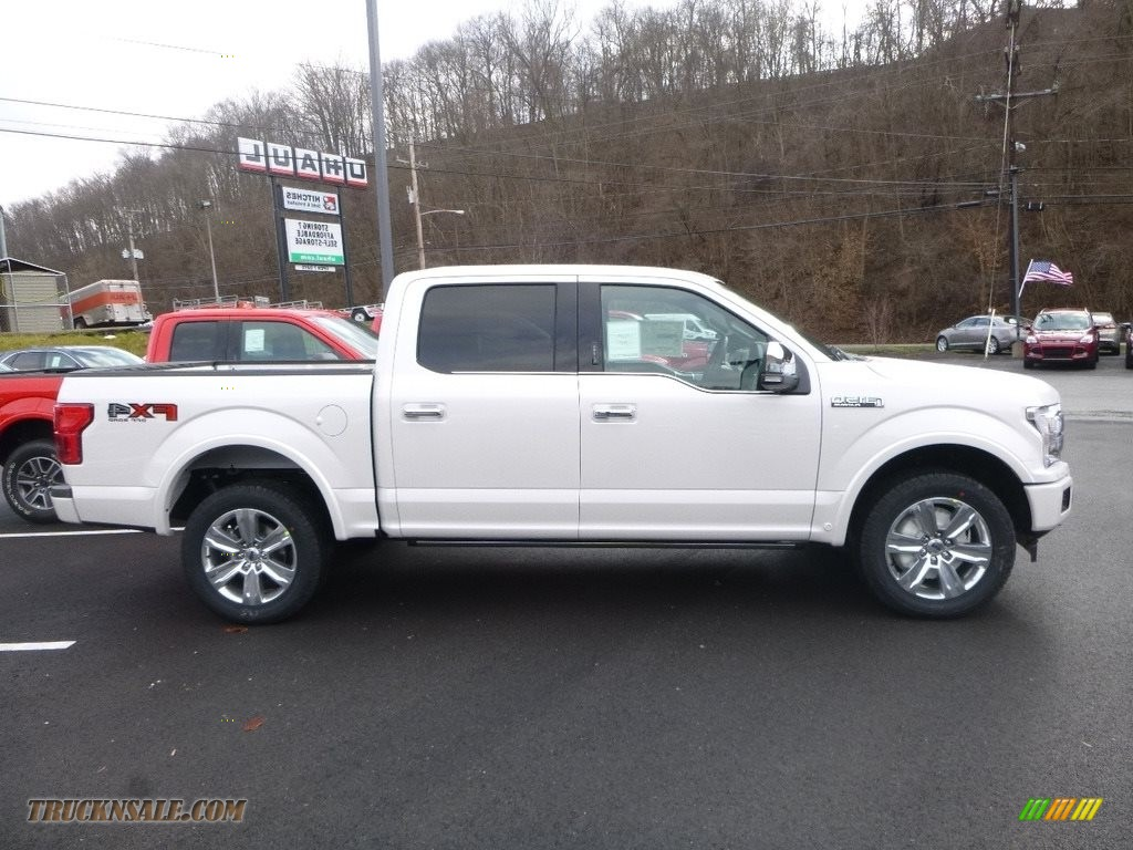 White Platinum / Black Ford F150 Platinum SuperCrew 4x4