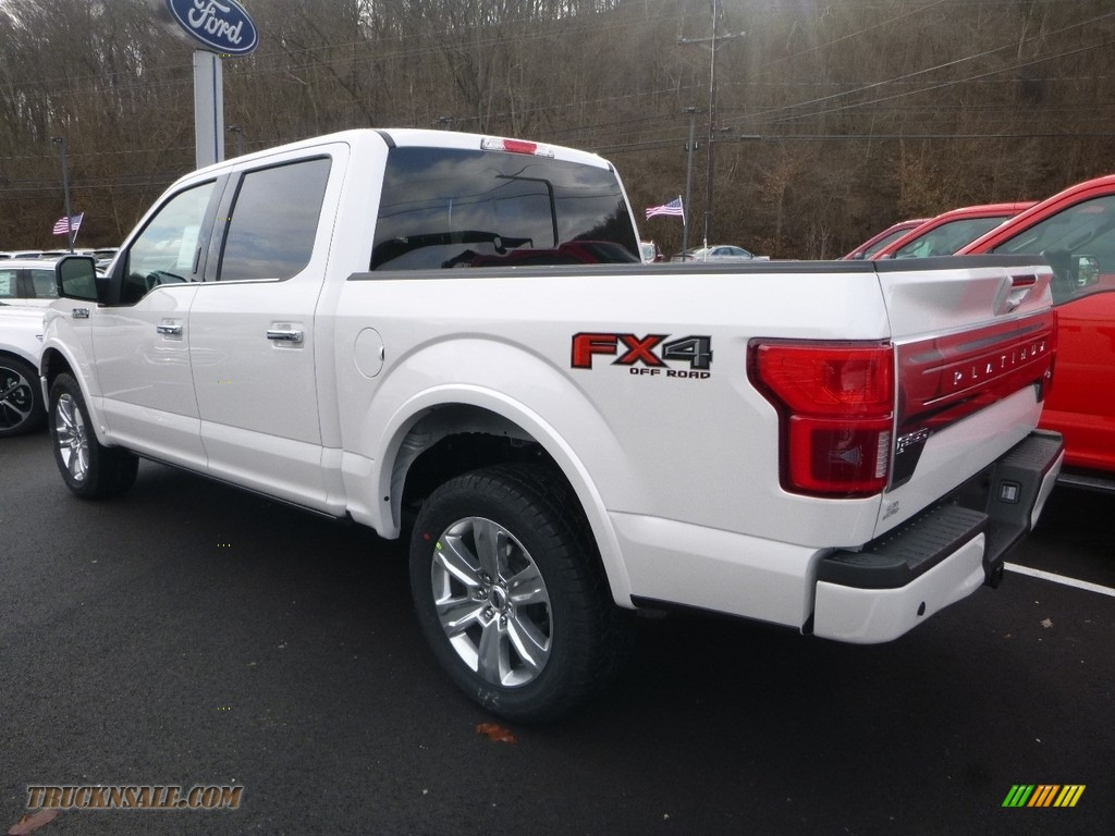 2018 F150 Platinum SuperCrew 4x4 - White Platinum / Black photo #3