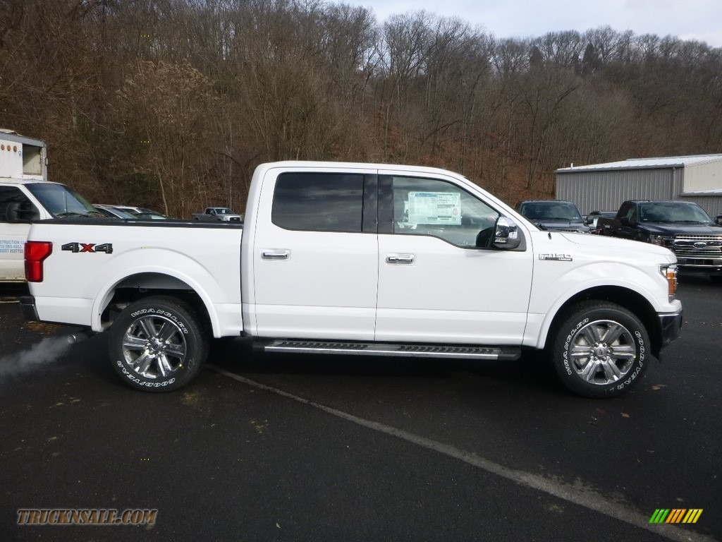 Oxford White / Black Ford F150 Lariat SuperCrew 4x4