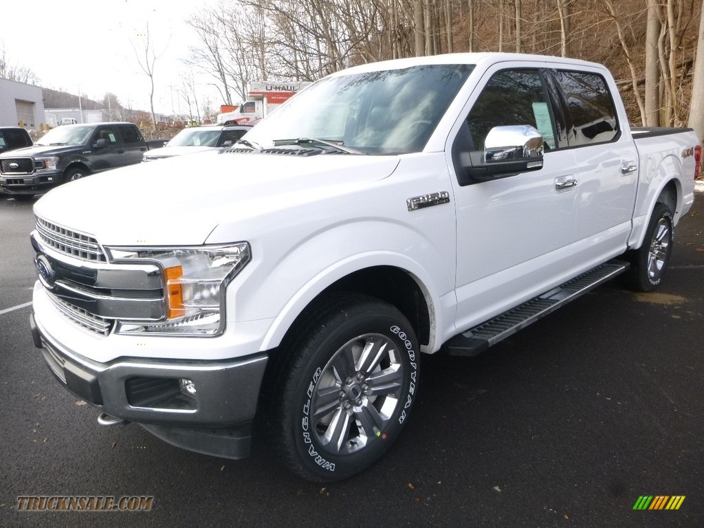 2018 F150 Lariat SuperCrew 4x4 - Oxford White / Black photo #5