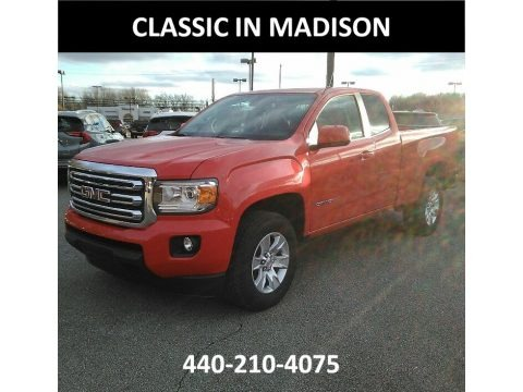 Cardinal Red 2018 GMC Canyon SLE Extended Cab