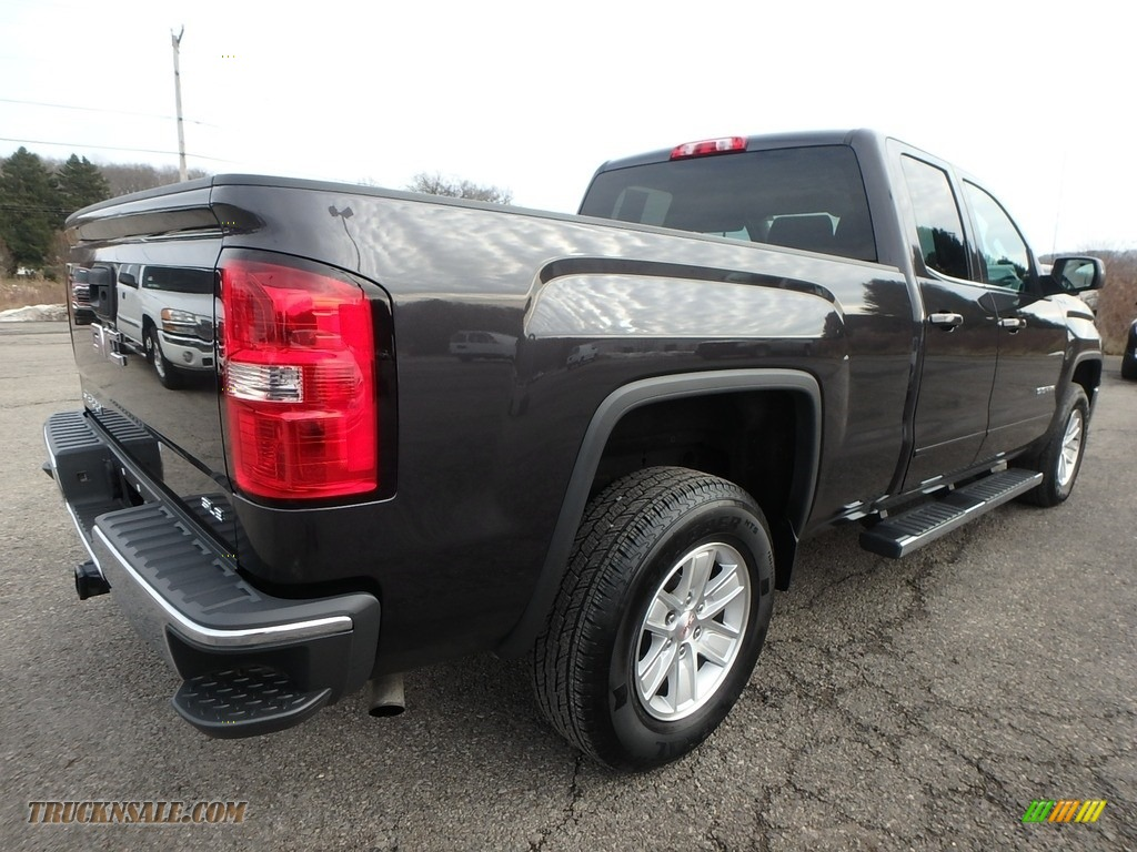 2015 Sierra 1500 SLE Double Cab 4x4 - Iridium Metallic / Jet Black photo #9