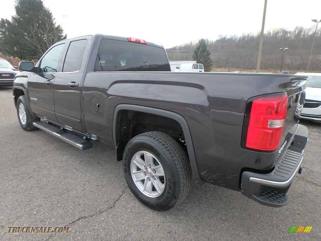 2015 Sierra 1500 SLE Double Cab 4x4 - Iridium Metallic / Jet Black photo #12