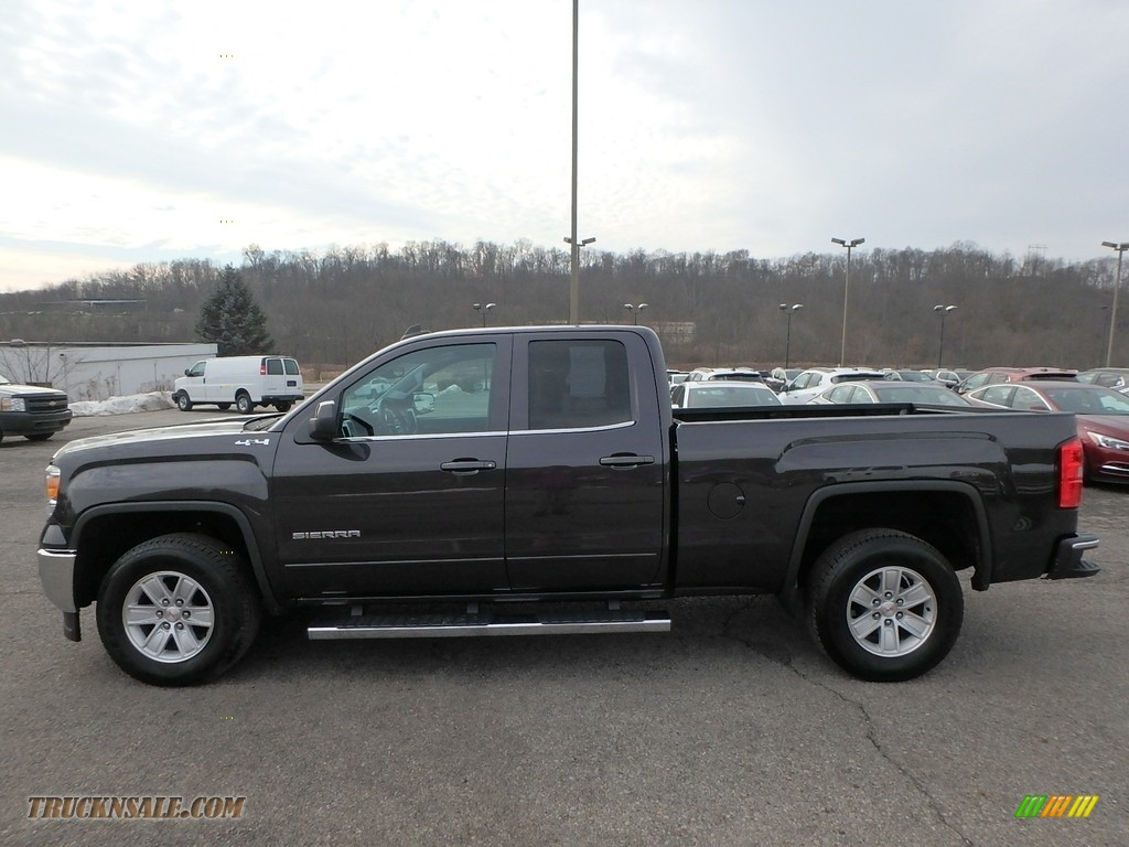 2015 Sierra 1500 SLE Double Cab 4x4 - Iridium Metallic / Jet Black photo #14