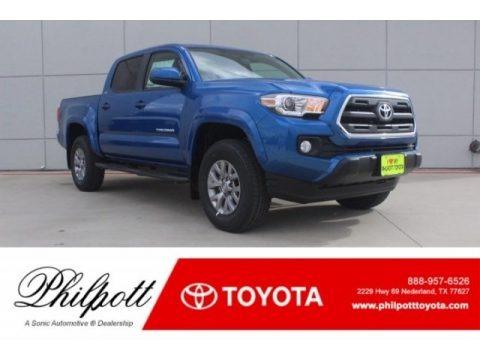 Blazing Blue Pearl 2017 Toyota Tacoma SR5 Double Cab