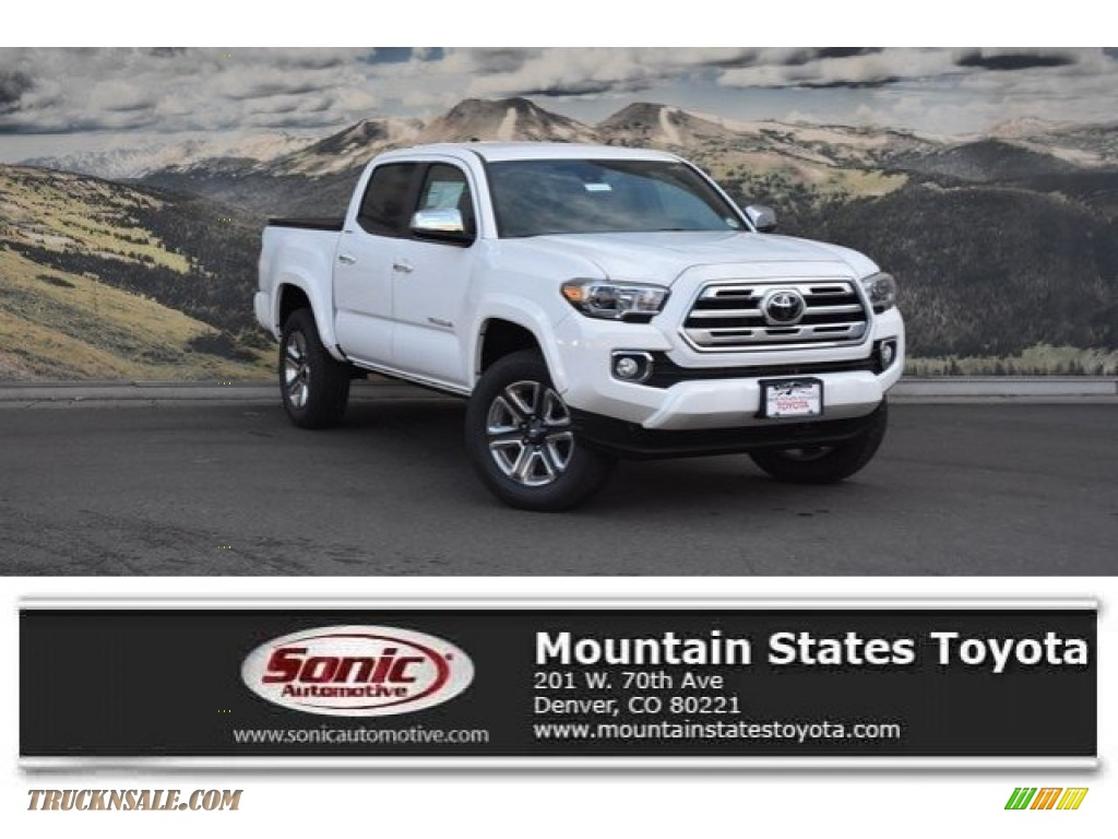 2018 Tacoma Limited Double Cab 4x4 - Super White / Hickory photo #1