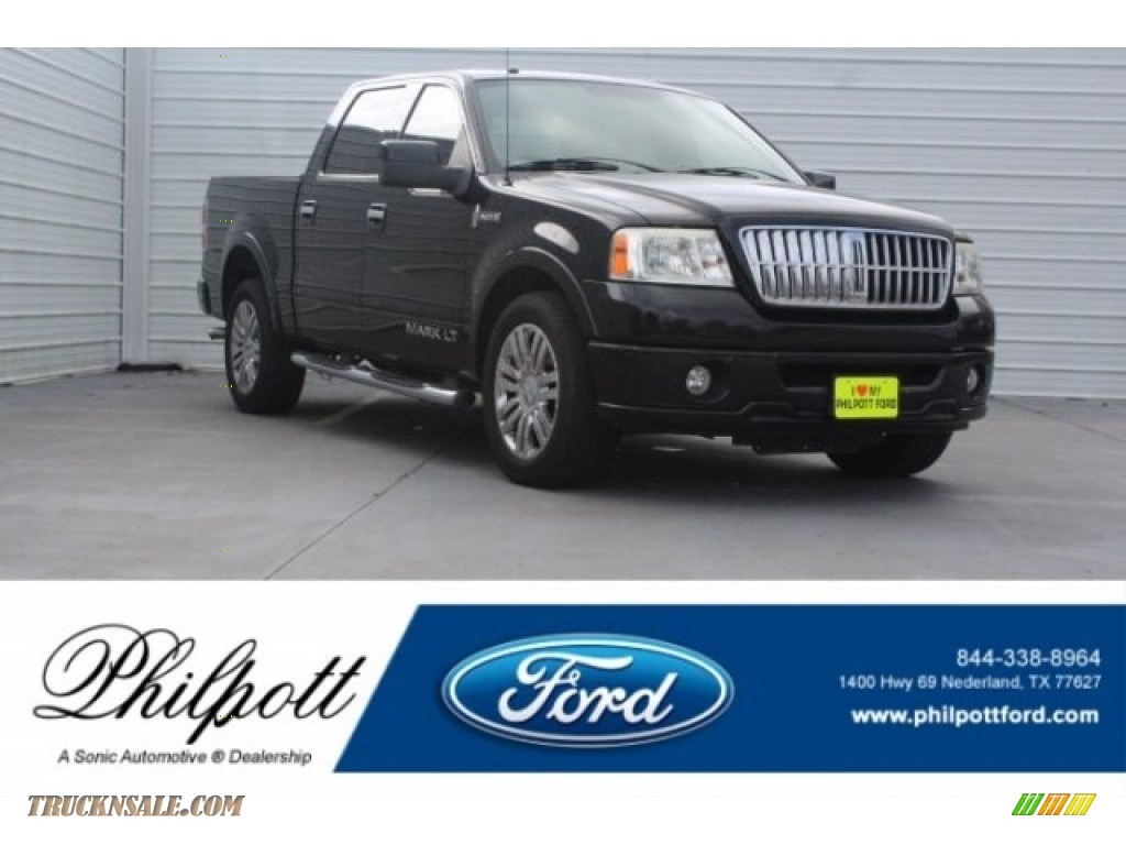 Black Clearcoat / Dove Grey/Black Lincoln Mark LT SuperCrew