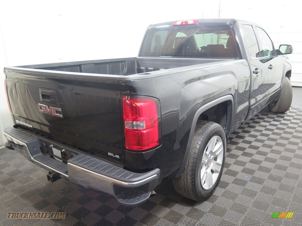 2015 Sierra 1500 SLE Double Cab 4x4 - Onyx Black / Jet Black photo #12
