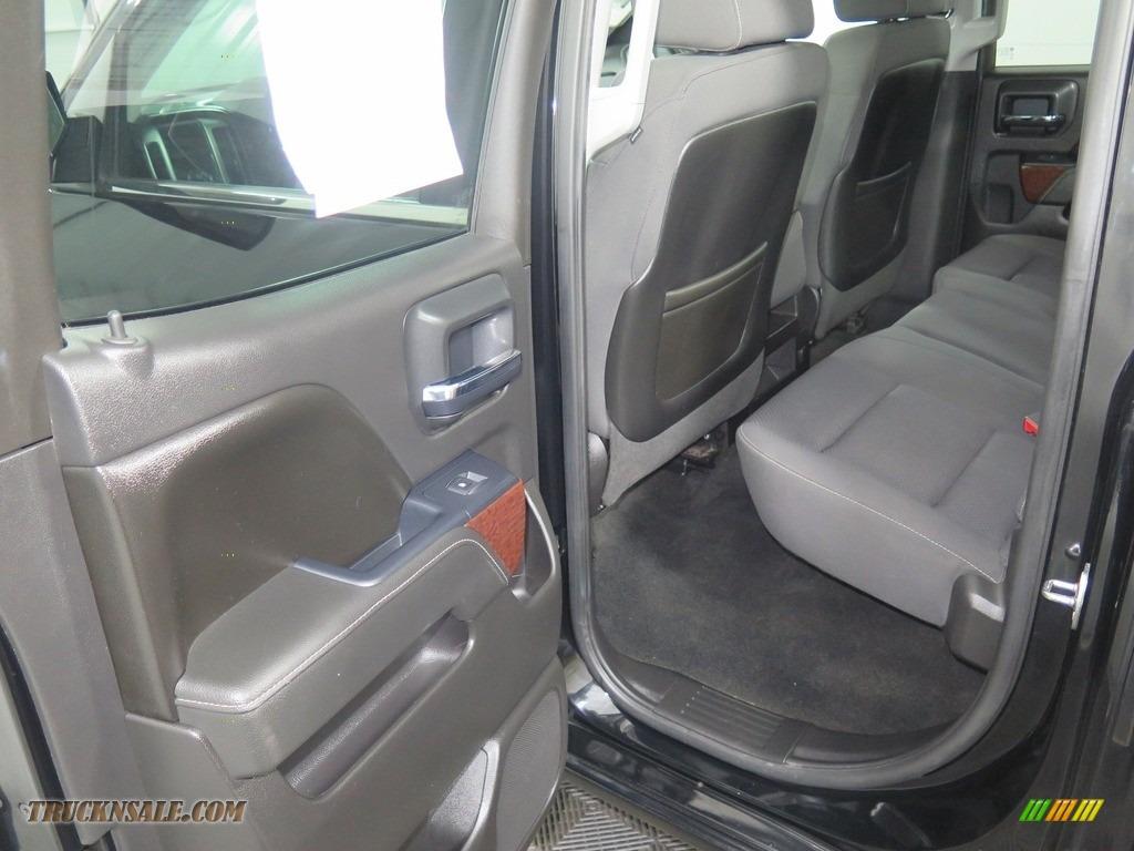 2015 Sierra 1500 SLE Double Cab 4x4 - Onyx Black / Jet Black photo #23