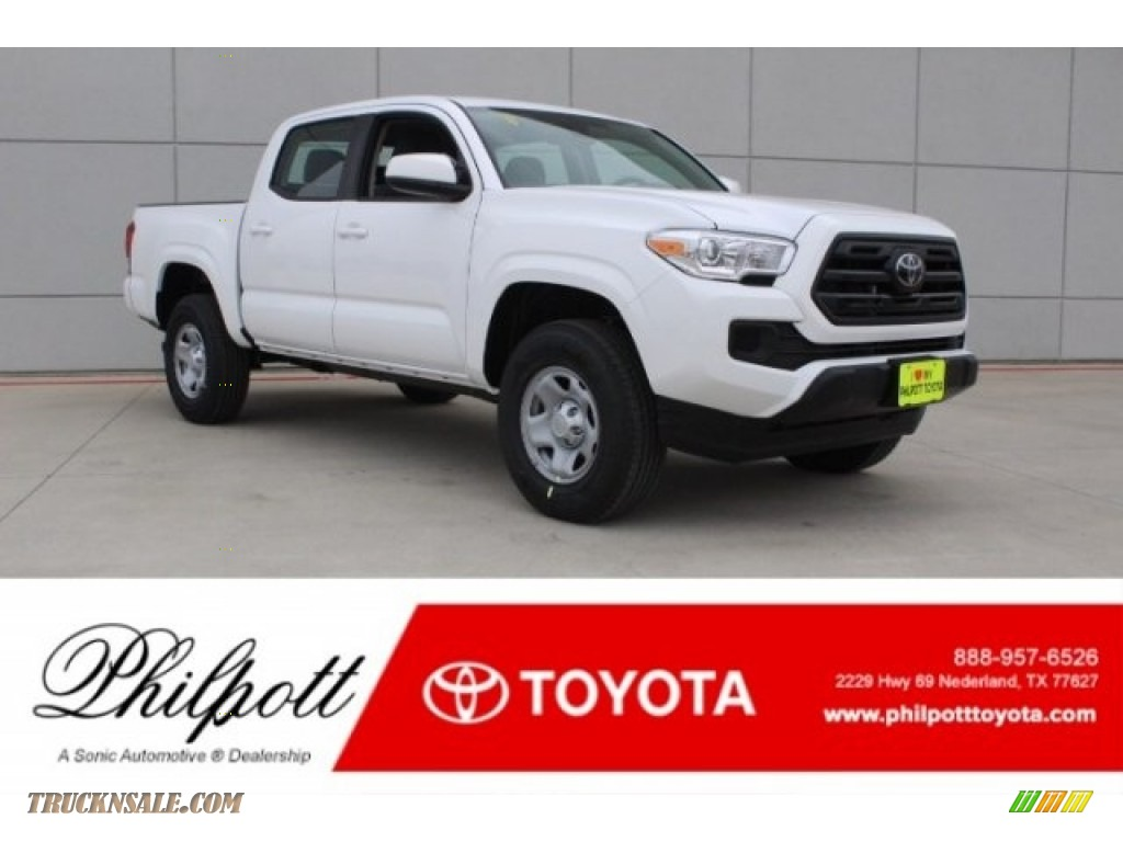 2018 Tacoma SR Double Cab - Super White / Cement Gray photo #1