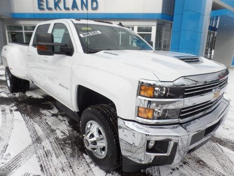 Summit White 2018 Chevrolet Silverado 3500HD LT Crew Cab Dual Rear Wheel 4x4