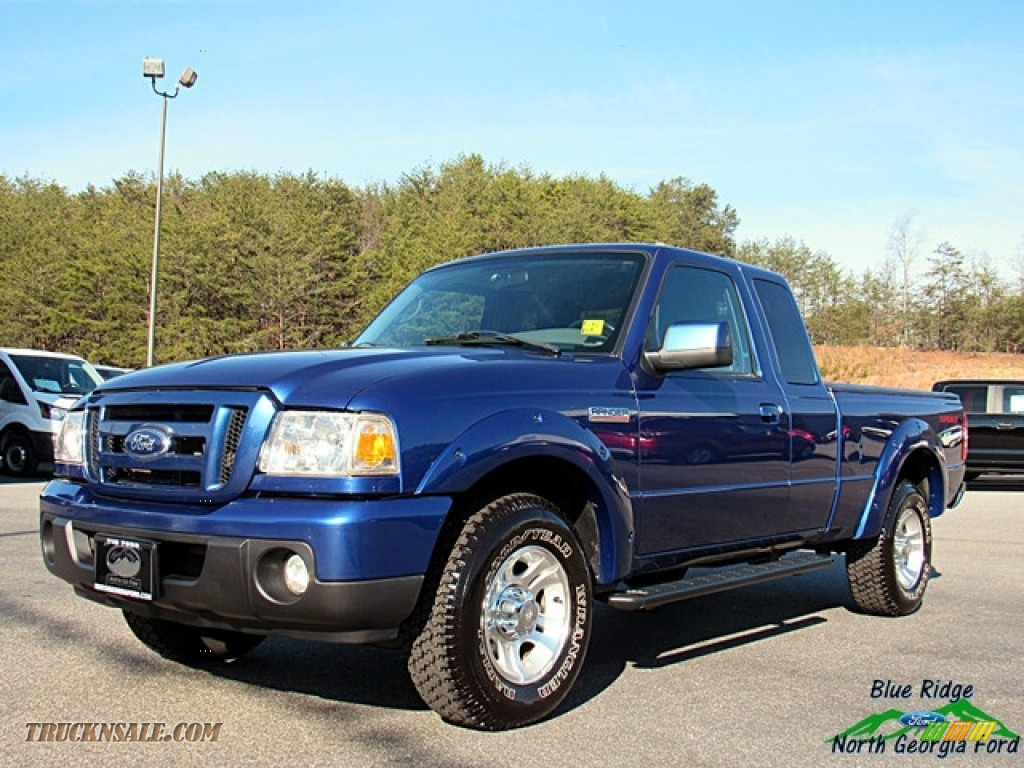 2011 Ranger XLT SuperCab - Vista Blue Metallic / Medium Dark Flint photo #1