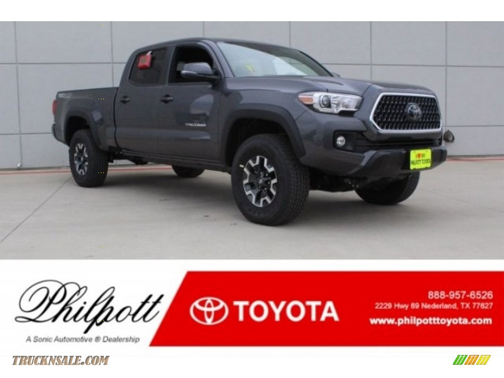 2018 Tacoma TRD Off Road Double Cab 4x4 - Magnetic Gray Metallic / Graphite w/Gun Metal photo #1