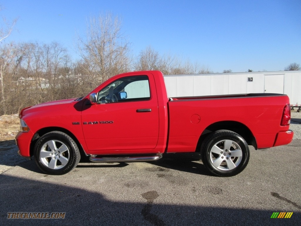 2012 Ram 1500 ST Regular Cab 4x4 - Flame Red / Dark Slate Gray/Medium Graystone photo #1