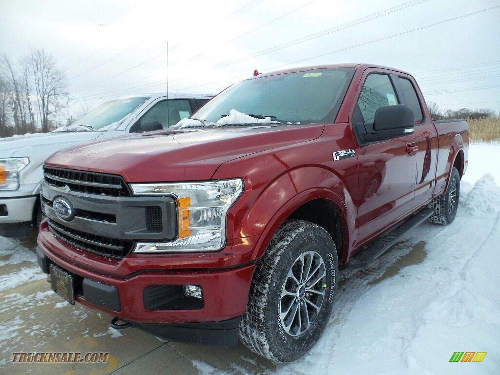 2018 F150 XLT SuperCab 4x4 - Ruby Red / Black photo #1