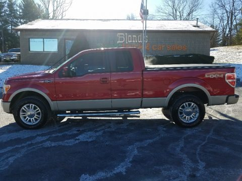Red Candy Metallic 2010 Ford F150 Lariat SuperCab 4x4
