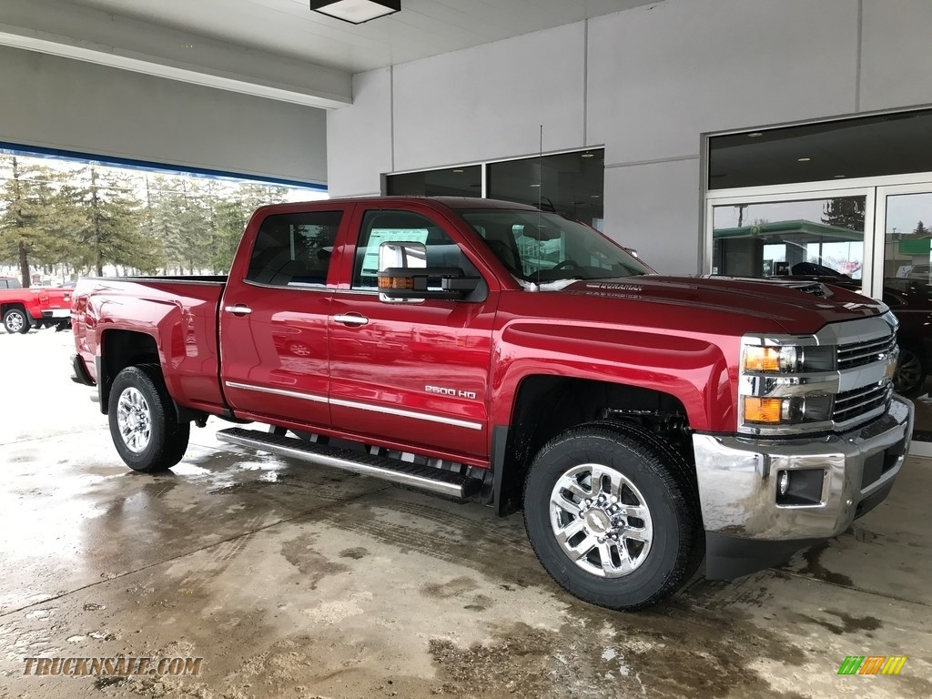 2018 Silverado 2500HD LTZ Crew Cab 4x4 - Cajun Red Tintcoat / Cocoa/­Dune photo #1
