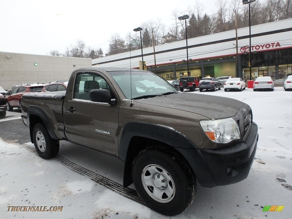 2009 Tacoma Regular Cab 4x4 - Silver Streak Mica / Graphite Gray photo #1