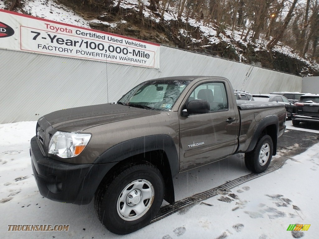 2009 Tacoma Regular Cab 4x4 - Silver Streak Mica / Graphite Gray photo #3