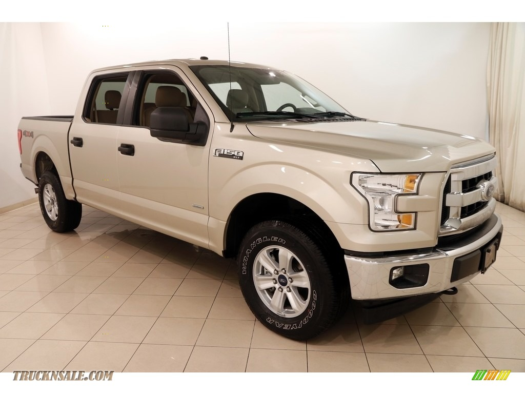 2017 F150 XLT SuperCrew 4x4 - White Gold / Light Camel photo #1