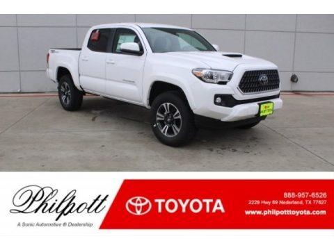 Super White 2018 Toyota Tacoma TRD Sport Double Cab