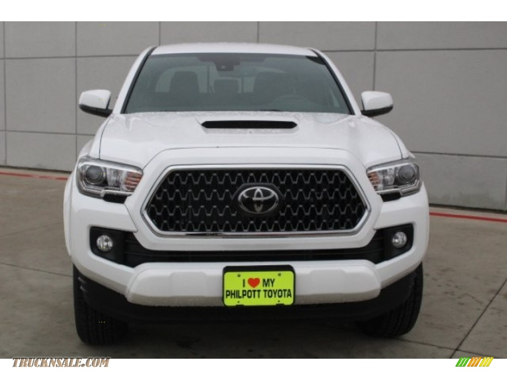 2018 Tacoma TRD Sport Double Cab - Super White / Black/Red photo #2