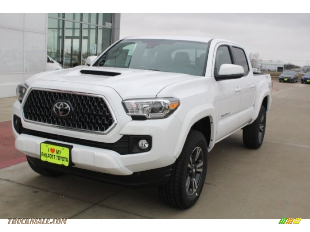 2018 Tacoma TRD Sport Double Cab - Super White / Black/Red photo #3