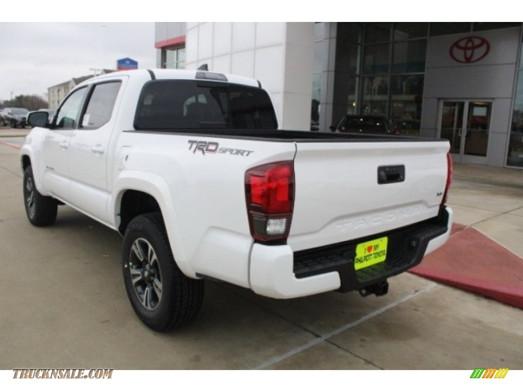 2018 Tacoma TRD Sport Double Cab - Super White / Black/Red photo #6