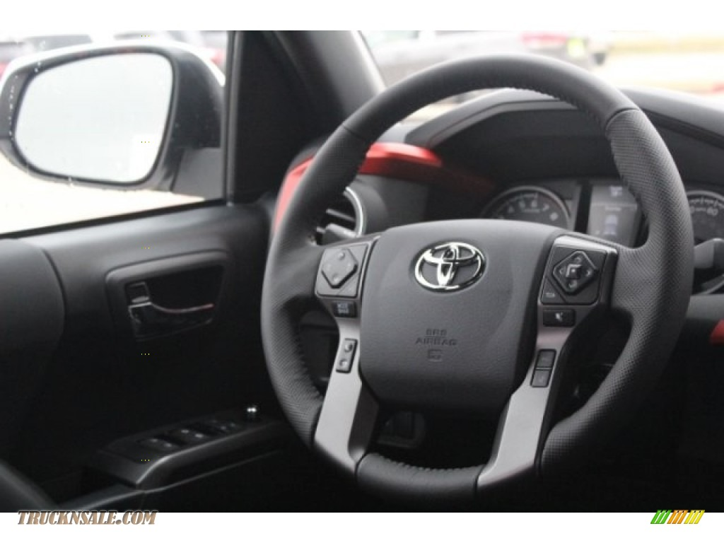 2018 Tacoma TRD Sport Double Cab - Super White / Black/Red photo #26