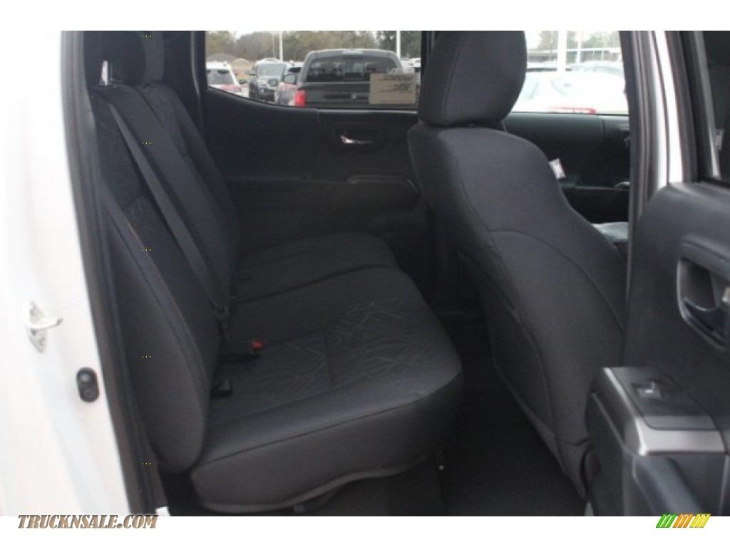 2018 Tacoma TRD Sport Double Cab - Super White / Black/Red photo #29