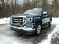 GMC Sierra 1500 SLT Crew Cab 4WD Stone Blue Metallic photo #1