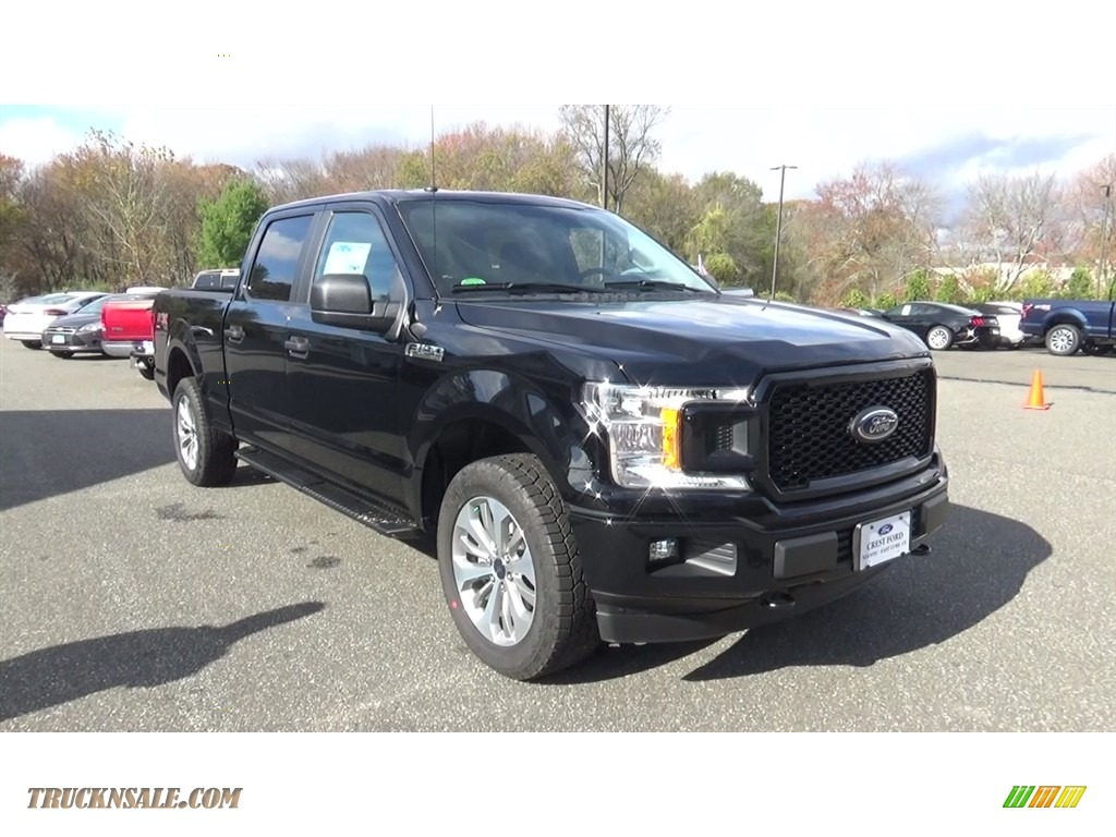 2018 F150 STX SuperCrew 4x4 - Shadow Black / Black photo #1