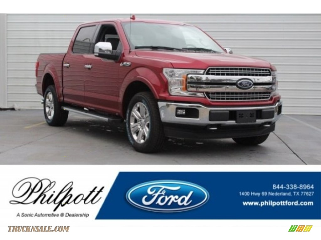 2018 F150 Lariat SuperCrew 4x4 - Ruby Red / Earth Gray photo #1